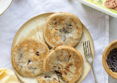 Pancakes de plátano y chocolate